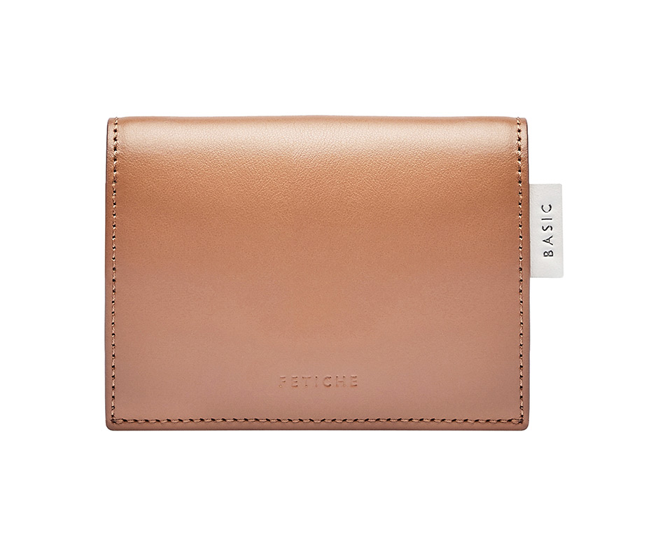 Mini wallet, caramel